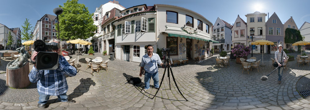 360° panorama tv interview with Khun Rit bremen