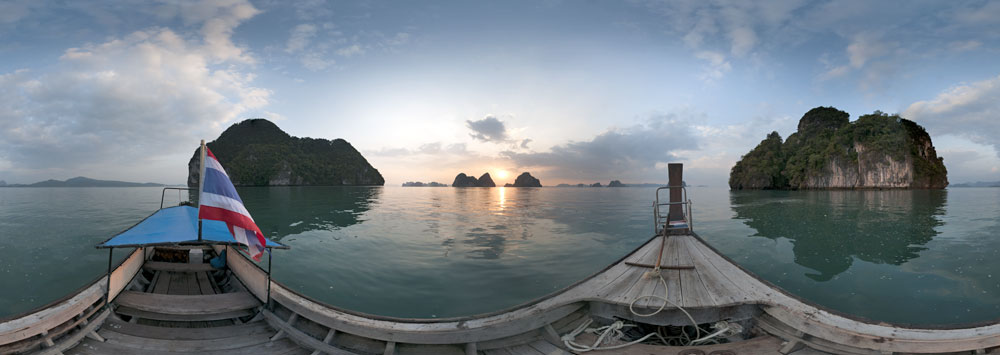 360° panorama at phang nga bay thailand
